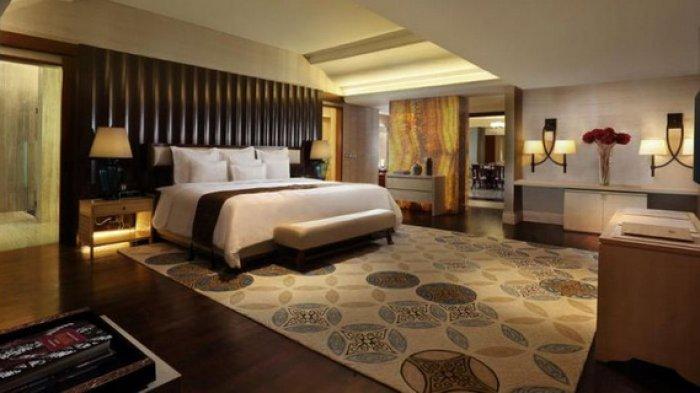 Kamar tidur di Presidential Suite Hotel Tentrem, Yogyakarta