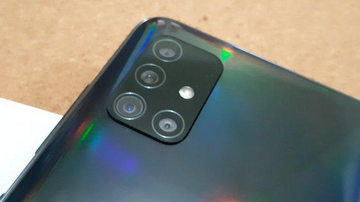 Kamera Galaxy A51 dalam formasi L