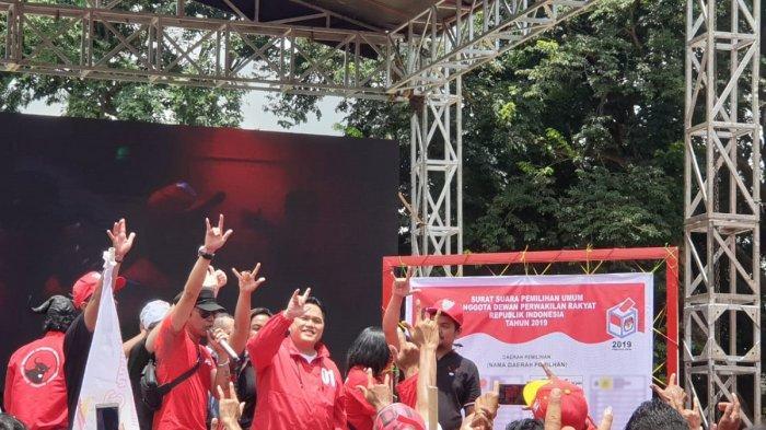 Ian Kasela dan Erick Thohir Kampanye untuk Jokowi-Maruf di Tangerang