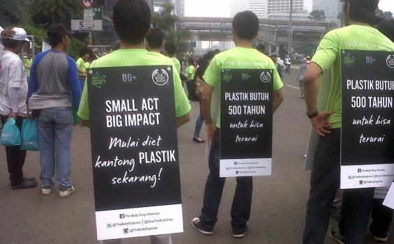 The Body Shop Ajak Masyarakat 'Say No to Plastic'