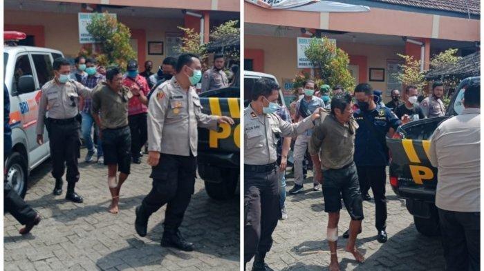 Polisi Jadi Korban Pembacokan Saat Tolong Warga dari Amukan Pria Depresi di Kediri, Wajahnya Terluka
