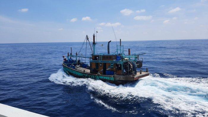 KKP Kembali Ringkus Kapal Pencuri Ikan Asal Malaysia, Propeller Kapal Pengawas Sempat Terlilit Tali