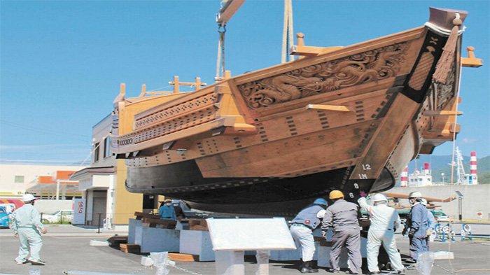 Restorasi Hampir Selesai, Kapal Kayu Kebanggaan Jepang Kesen Maru akan Diluncurkan 6 Oktober 2021