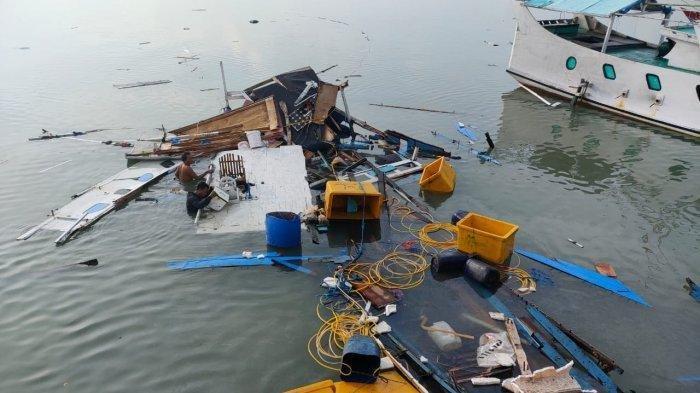 Ledakan Tabung Gas Menghancurkan Perahu Nelayan, 4 Orang Terluka