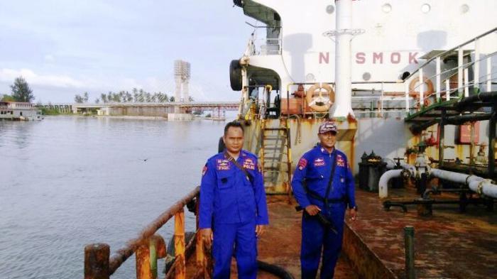 Polair Polda Babel Amankan Kapal MT Sirima I di Pulau Tujuh