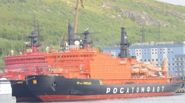 Rusia Bikin Kapal Pemecah Es Bertenaga Nuklir Terbesar dan Terkuat di Dunia untuk Arungi Laut Arktik