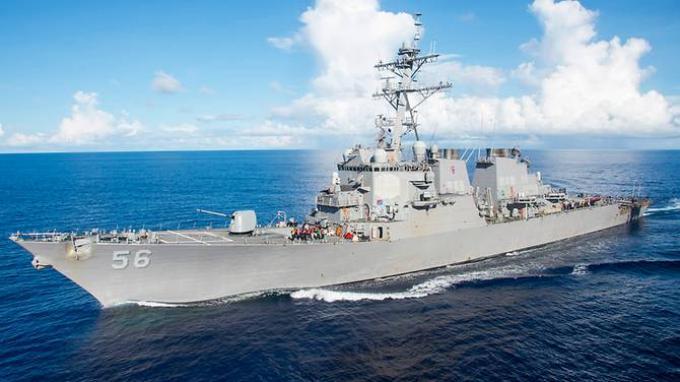 Kapal perusak USS John S McCain milik Angkatan Laut AS.