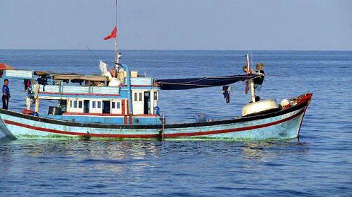 KN Belut laut 4806 milik Bakamla RI yang sedang melakukan patroli rutin di perairan dekat Laut Cina Selatan menangkap kapal ikan berbendera Vietnam pada 12 April 2017.