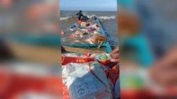Beras Beras Bansos 3,69 Ton Basah akibat Perahu Karam di Maluku, PT Pos dan Bulog Kirim Pengganti