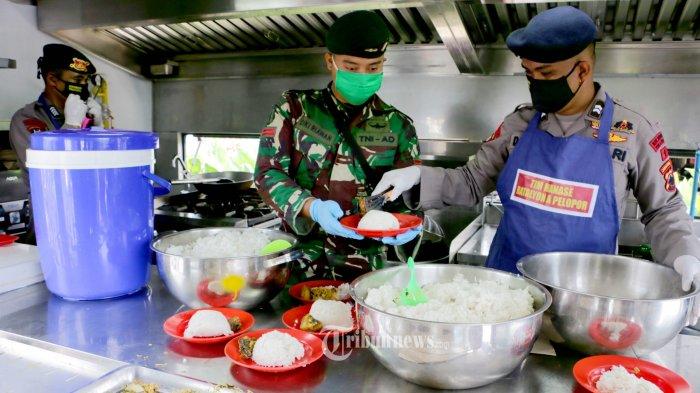 PSBB DKI Jakarta, TNI Sediakan Ribuan Nasi Bungkus Gratis Setiap Hari
