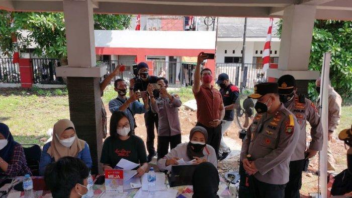 Sambut HUT RI Ke-76, Polda Metro Jaya Gelar Uji Coba Program Vaksinasi Merdeka