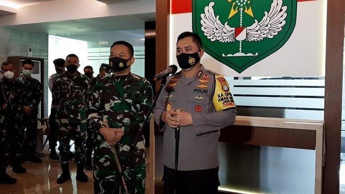 Kapolda Metro Jaya Irjen Fadil Imran bertemu Pangdam Jaya Mayjen Dudung Abdurachman di Makodam Jaya, Jalan Mayjen Sutoyo, Kramatjati, Jakarta Timur, Senin (23/11/2020).