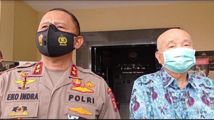 Kapolda Sumsel Irjen Pol Eko Indra Heri dan Prof dr Hardi Darmawan, dokter pribadi keluarga Akidi Tio.