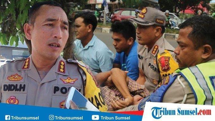 Tolong Korban Kecelakaan Saat Kampanye Jokowi, Kapolresta Palembang Langsung Turun Mobil,