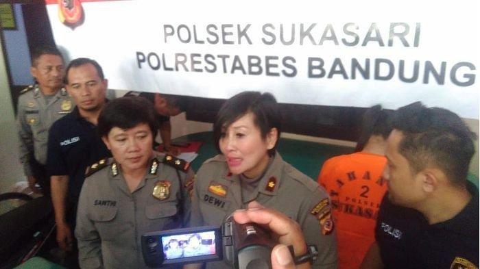 Kapolsek Sukasari Kota Bandung, Kompol Yuni Purwanti saat gelar perkara di Polsek Sukasari, Selasa (14/1/2020).