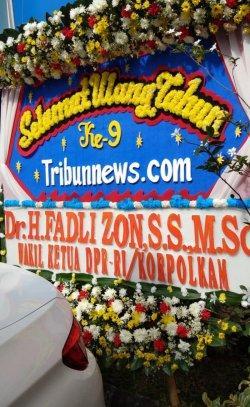 Fadli Zon Kirim Bunga Ucapan HUT Ke-9 Tribunnews