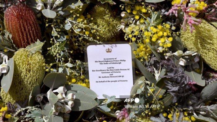 Karangan bunga untuk Pangeran Philip
