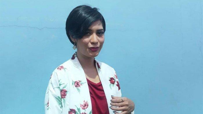 Karen Pooroe di gedung Trans TV, Jalan Kapten Tendean, Mampang Prapatan, Jakarta Selatan, Selasa (10/3/2020).
