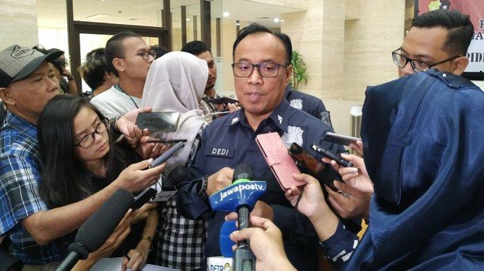 Karopenmas Divisi Humas Polri Brigjen Pol Dedi Prasetyo di Bareskrim Polri, Jalan Trunojoyo, Kebayoran Baru, Jakarta Selatan, Rabu (4/9/2019).