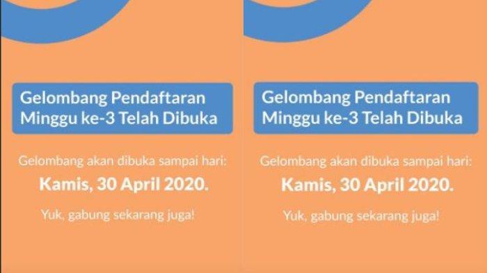 Pendaftaran Kartu Pra Kerja Gelombang 3 Dibuka Sampai 30 April 2020, Simak Cara Daftarnya