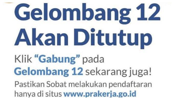 Resmi Ditutup, Ini Bocoran Pengumuman Kartu Prakerja Gelombang 12, Cek www.prakerja.go.id