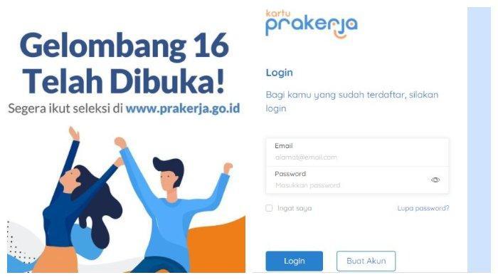 Pendaftaran Kartu Prakerja Gelombang 16 Sudah Dibuka, Segera Akses www.prakerja.go.id, Siapkan KTP