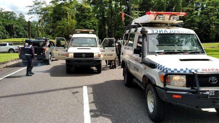 Karyawan PT Freeport Indonesia (PTFI) diberondong tembakan oleh orang tidak di kenal di Gedung Perkantoran PTFI Kuala Kencana, Papua, Senin (30/3/202020).