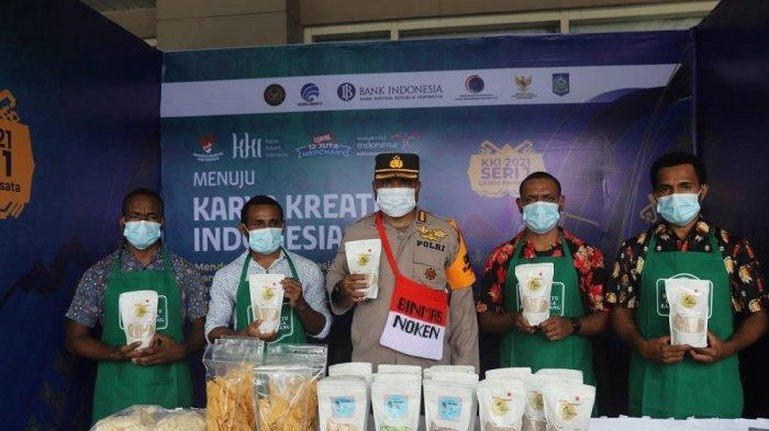 Binmas Noken Nemangkawi Bina Anak Papua Ciptakan Olahan Beras Sagu