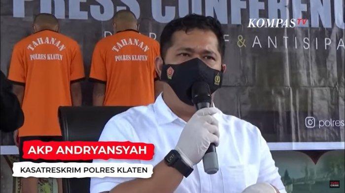 Kasatreskrim Polres Klaten, AKP Andryansyah ss