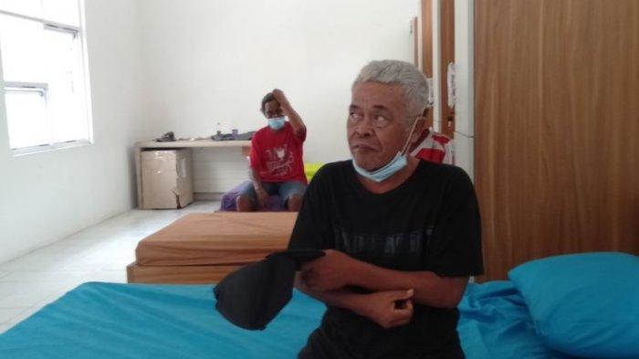 Kastubi (69) saat ditemui di Balai Rehabilitasi Sosial Eks Gelandangan dan Pengemis Pangudi Luhur Bekasi, Kamis (7/1/2021).
