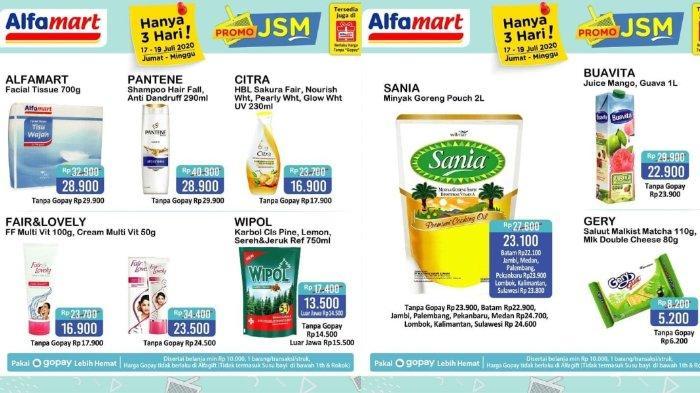 Katalog Promo Jsm Alfamart Periode 17 19 Juli 2020 Belanja Lebih Hemat Pakai Gopay Dan Shopeepay Tribunnews Com Mobile