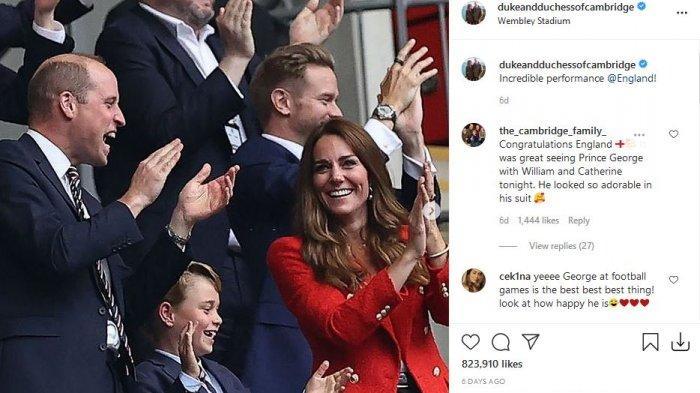 Kate Middleton bersama Pangeran William dan putra mereka Pangeran George.
