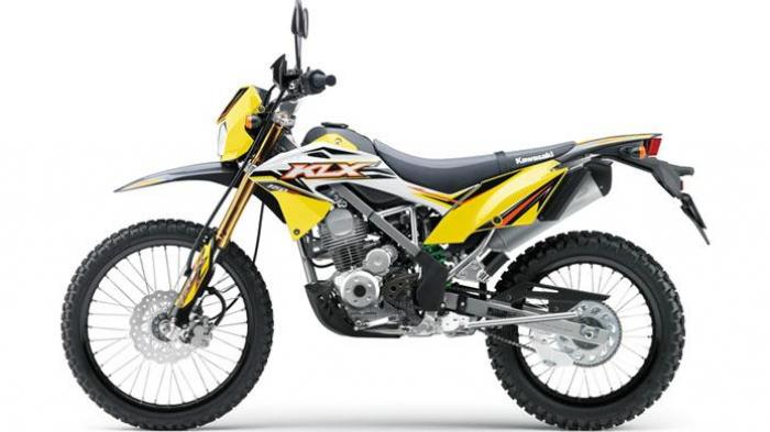 Kawasaki KLX 150BF SE warna kuning.