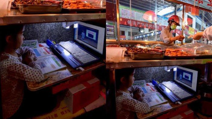 Kisah Bocah 7 Tahun di Hubei yang Viral karena Belajar di Bawah Kolong Meja Pasar Orang Tuanya