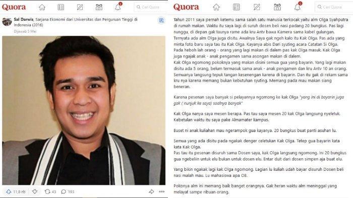 Pria Ungkap Kebaikan Hati Olga Syahputra 10 Tahun Lalu saat di Warung Padang hingga Beri Pesan Ini