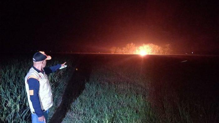Bagaimana Bisa? Muncul Semburan Api di Sawah Desa Sukaperna Indramayu, Begini Penjelasan BPBD Setempat