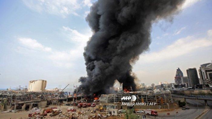 Kepanikan Terjadi Akibat Kebakaran di Beirut Lebanon, Penduduk Trauma, Penyebab Belum Diketahui