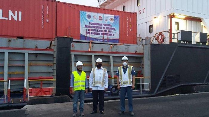 Muatan Balik Tol Laut, Enam Belas Kontainer Dari Merauke Tiba Surabaya