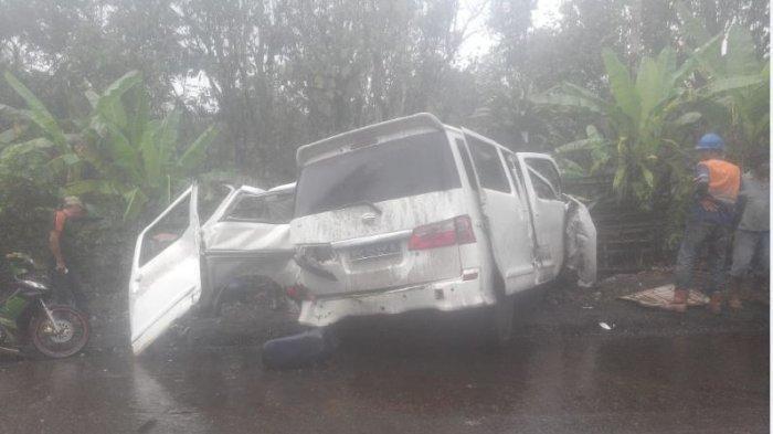 Dua Warga Lahat Tewas Kecelakaan di Jalinsum Merapi