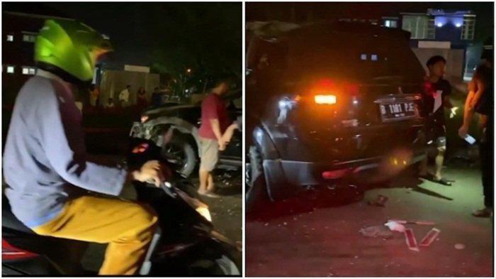 Diduga Mengantuk, Pengendara Fortuner Tabrak Truk Hingga Terguling di Jalan Layang Tomang