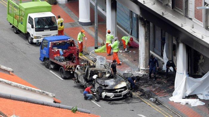 Kecelakaan Maut di Singapura: Mobil Mewah Ngebut lalu Terbakar, Tewaskan 5 Orang, 1 Pria Histeris