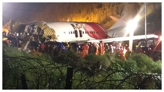Boeing-737 Alami Kecelakaan saat Mendarat di India: Badan Pesawat Patah Jadi 2 dan Tewaskan 15 Orang