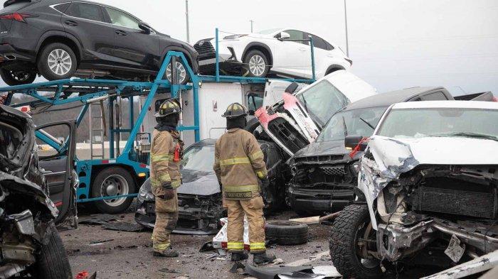 130 Mobil Terlibat Kecelakaan Beruntun di Texas Amerika Serikat, 6 Orang Dikabarkan Tewas