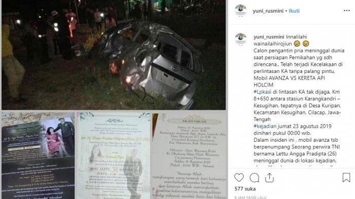 TRAGIS, Lettu TNI Angga Pradipta Tewas Kecelakaan Jelang Pesta Pernikahan: Hari Ini Ijab Kabul.