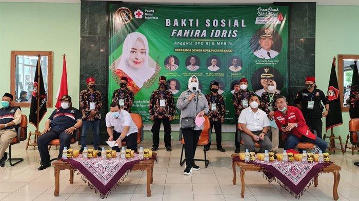 Setelah Tingkat Kota, Kegiatan Donor Darah Fahira Idris Maraton Ke-44 Kecamatan di DKI