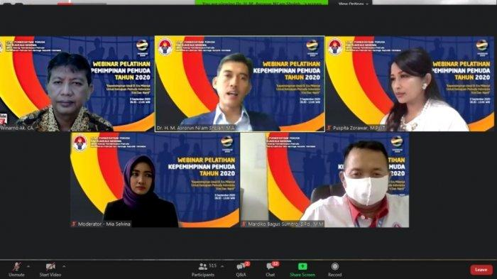 Webinar Pelatihan Kepemimpinan yang Dibuat Kemenpora Diikuti 3800 Pemuda