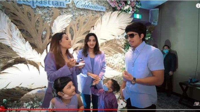 Keluarga Anang Hermansyah dan Ashanty beserta Atta Halilintar merayakan ulang tahun Aurel Hermansyah yang ke-22, ditayangkan di YouTube The Hermansyah A6, Minggu (12/7/2020).