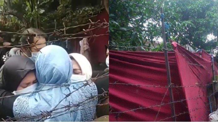 Keluarga mantan istri Sule, Lina, tampak menangis saat makam Lina dibongkar untuk proses autopsi, Kamis (9/1/2020).