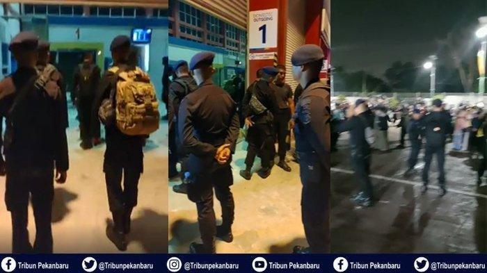 Sebanyak 3 Satuan Setingkat Kompi (SSK), atau 300 orang personel Satuan Brimob Polda Riau akan dikirim ke Papua dalam rangka membantu pengamanan wilayah itu pasca kerusuhan beberapa waktu lalu. Ratusan orang keluarga dari personel Brimob, ikut melepas keberangkatan mereka.