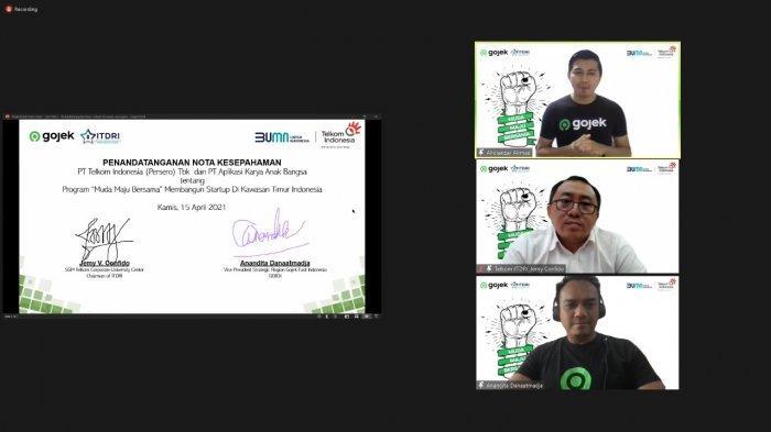 Kembangkan Startup Timur Indonesia, Gojek dan Telkom-ITDRI Luncurkan Muda Maju Bersama